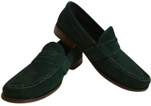 Cole Haan Air Loafers Suede Mens Mens Penny Loafers Bottle Green Flats