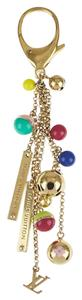 Louis Vuitton LOUIS VUITTON Limited Multicolor Goldtone Chain Grelots Key Holder an