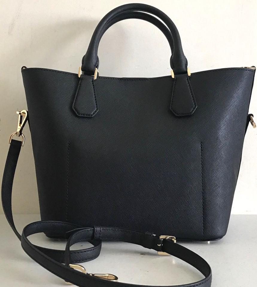 134bcd0be568 Michael Kors Greenwich Large Grab Black White Msrp Black Optic White  Saffiano Leather Tote