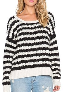 Free People Striped Chunky Knit Sweater