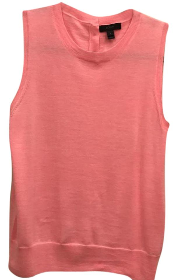 5ce5d0c1df5046 J.Crew Pink Lightweight Wool Jackie Sweater Shell Tank Top Cami Size ...