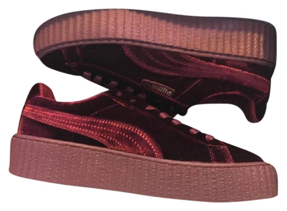 innovative design a58f5 5199a FENTY PUMA by Rihanna Maroon Women's Velvet Creeper Lace Up Sneakers  Platforms Size US 9.5 Regular (M, B) 16% off retail