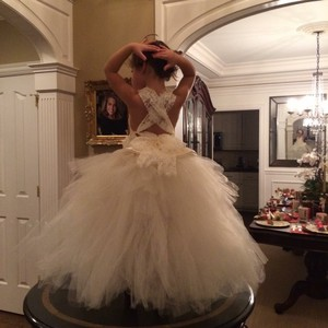 82aabb7cd US Angels White with Pink Bow Organza Classic Traditional Bridesmaid ...