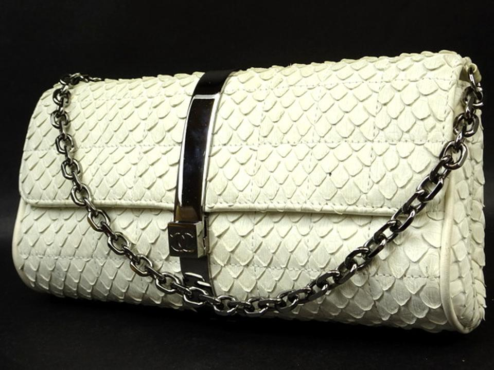 e5041b9facd6 Chanel Flap Classic Woc Wallet On Chain Python Shoulder Bag Image 0 ...