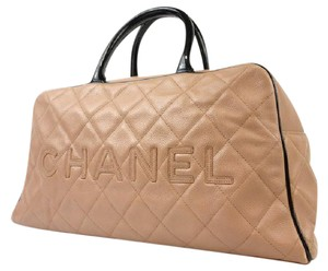 f564326a27b2 Chanel Small Bowling Beige Leather Weekend/Travel Bag - Tradesy