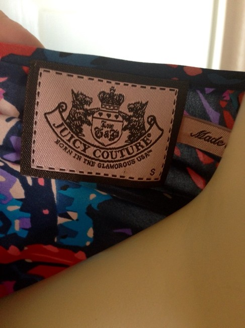 Juicy Couture short dress Floral Navy/pink on Tradesy