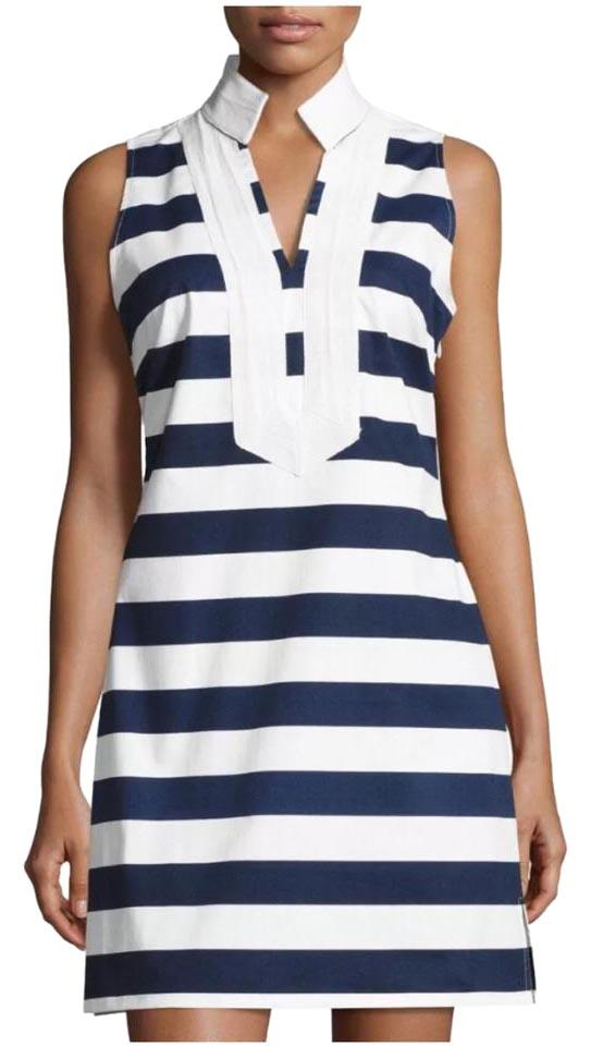 dd4bd77c9a Sail to Sable Navy and White Eastern Seaboard Stripe In Short Casual ...