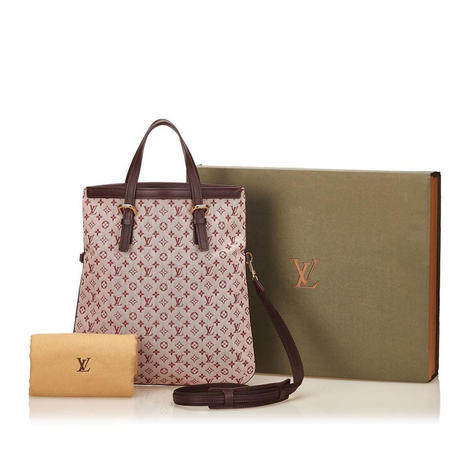 louis vuitton pink fabric francoise tote tradesy. Black Bedroom Furniture Sets. Home Design Ideas