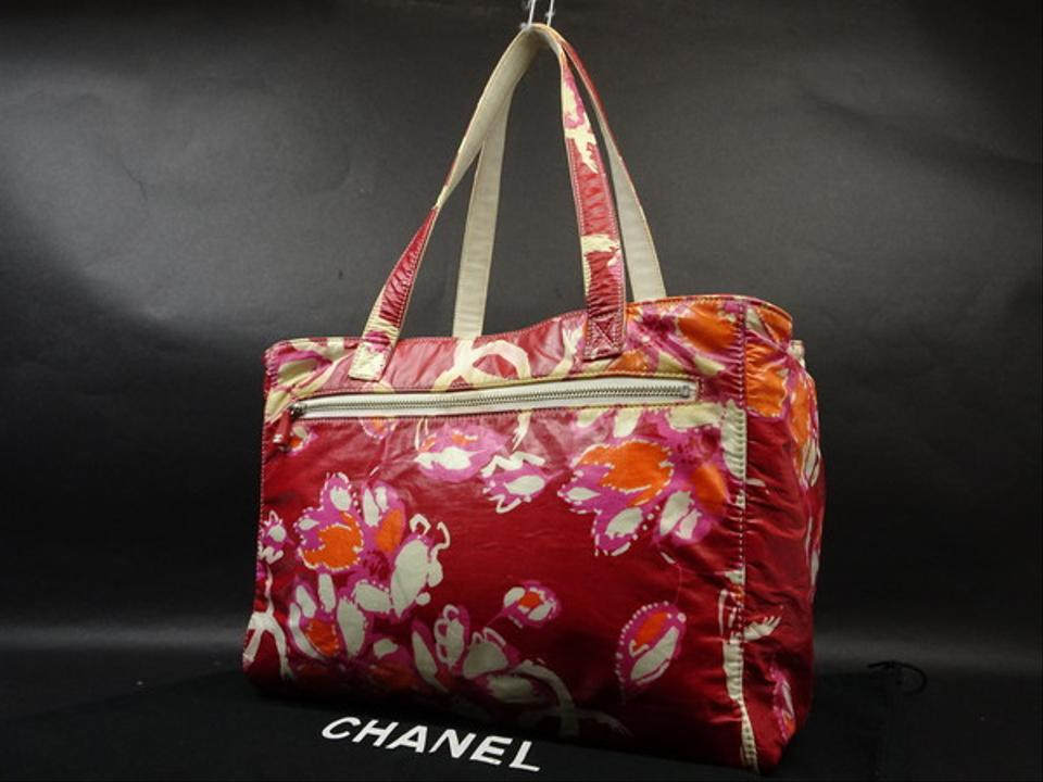 fa9f6bcf5277ae Chanel Flower Floral Camellia Beach Classic Tote in Red Image 0 ...