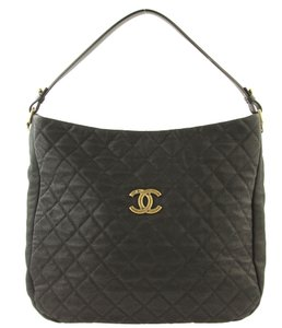 151c605cec00 Chanel Black Lambskin Leather Quilted CC Caviar Bag