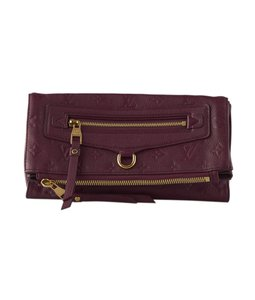 Louis Vuitton Leather M94048 Burgundy Clutch