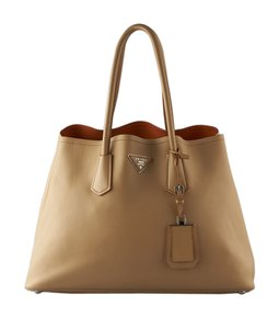 Prada Leather Br5070 Tote in Brown