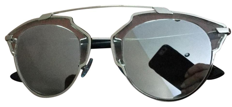 b9fe4e29d72c Dior Silver Grey So Real Cat Eye Mirrored Glasses Sunglasses - Tradesy