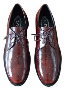 Tod's Leather Patent Fall Burgundy Formal