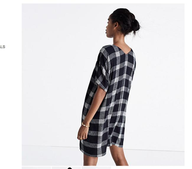 Madewell short dress Black and White Plaid Tartan on Tradesy