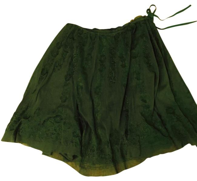 Item - Green Maxstudio.con Special Edition Embroidered Skirt Size 4 (S, 27)