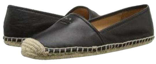 05fa1feb25cb Coach Black Rhodelle Espadrille Driving Loafer Flats Size US 10 ...