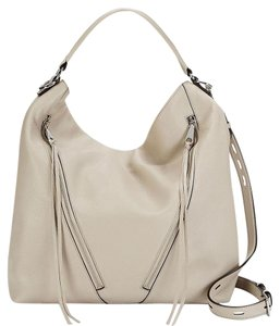 Rebecca Minkoff Leather Silver Zipper Hobo Bag
