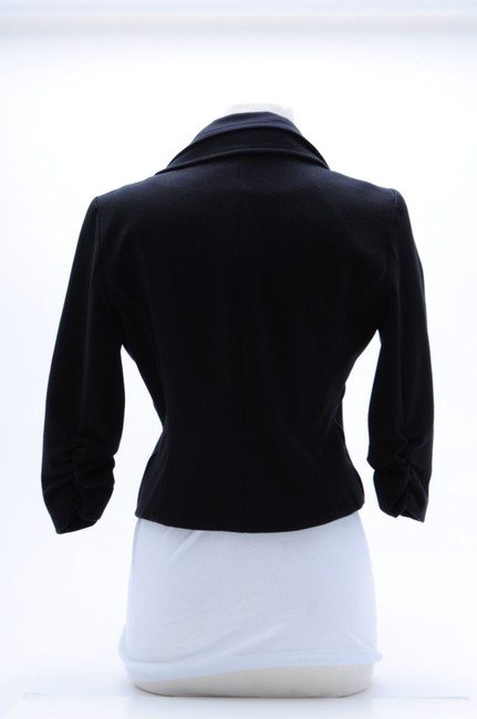 LaROK Embellished With Cristals Cropped Cotton Size L Black Jacket Image 3
