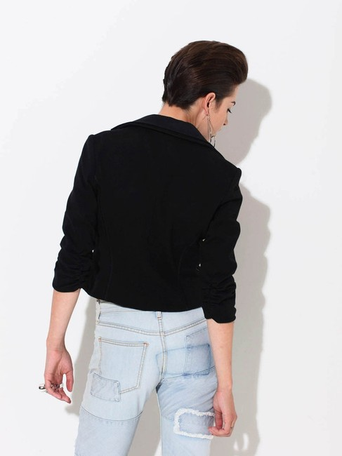 LaROK Embellished With Cristals Cropped Cotton Size L Black Jacket Image 5