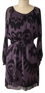 Shoshanna short dress purple,black on Tradesy
