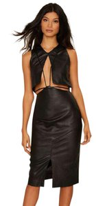 Asilio Leather Midi Cut-out Date Dress