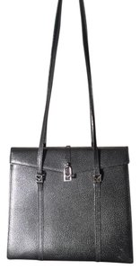 ebdc4ed9c59f Handbag Black Leather with Stainless Hardware Shoulder Bag