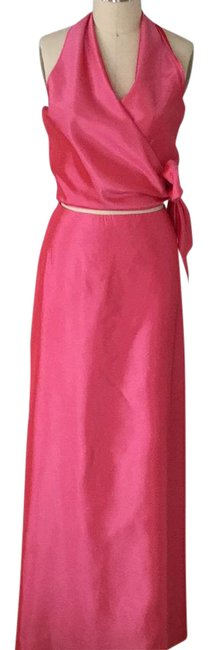 Item - Pink Gown Silk Long Night Out Dress Size 12 (L)