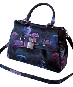 Kathy Van Zeeland Satchel in Grey/ Multi