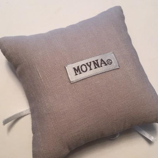 BHLDN Dove Grey Stitched Ring Pillow Image 5