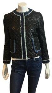 D & G Dolce & Gabbana & Quilted Leather Motorcycle 42 Motorcycle Jacket