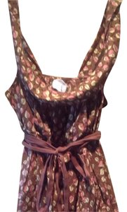 Anthropologie Top Brown/ Pink/ Cream