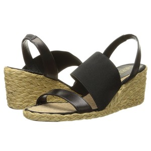 Ralph Lauren Espadrilles Black Wedges