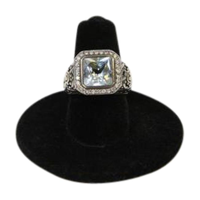 Item - Aquamarine And Diamond Bezel with 18k Gold Accents Ring