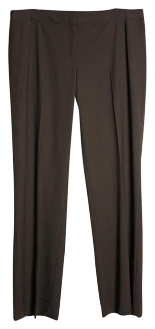 Item - Brown Wool Stretch Straight Le Suiting Dress Pants Size 12 (L, 32, 33)