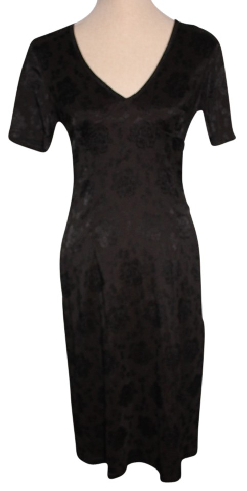 Tripp Nyc Black Pin Up Mid Length Night Out Dress Size 12 L Tradesy