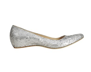 Maison Martin Margiela for H&M Limited Edition Silver Glitter Flats