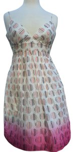 Max and Cleo Sundress Cotton Lined Halter Pink Dress