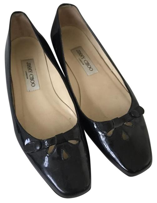 Item - Black Patent Leather Flats Size US 8 Regular (M, B)