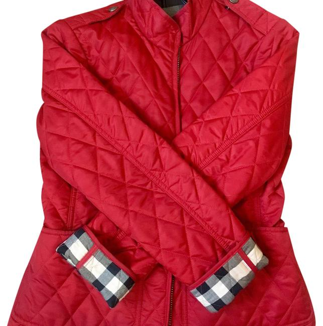 Item - Red Diamond Quilted Jacket Size 4 (S)