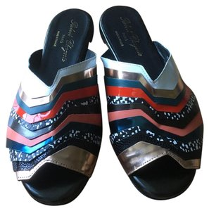 Robert Clergerie black red white Sandals