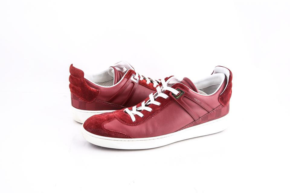 e0b2822f3c09 Louis Vuitton Red   Genesis Sneakers Shoes Image 0 ...