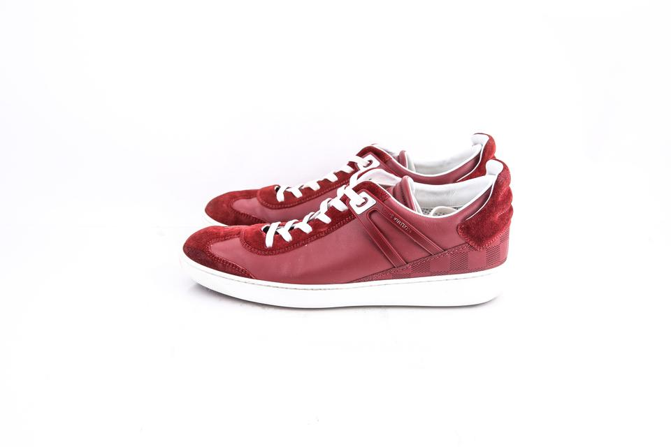 17d2de3a86ec Louis Vuitton Red   Genesis Sneakers Shoes Image 6. 1234567