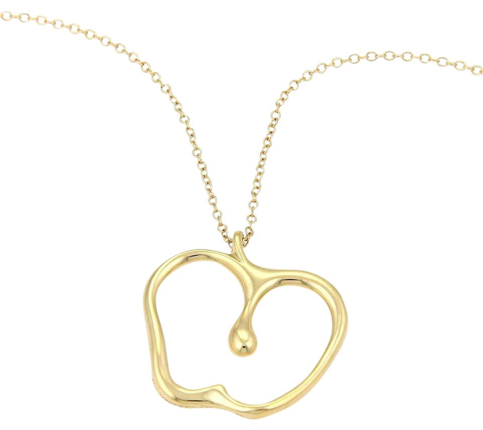 Tiffany co yellow gold peretti large apple pendant 30l necklace peretti large apple pendant 18k yellow gold necklace aloadofball Image collections