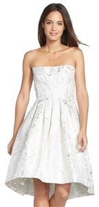 Vera Wang Silver Ivory 1e06w17 High Low Cocktail Dress Size 4 S 20 Off Retail