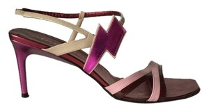 Miu Miu Metallic Leather Purple Sandals