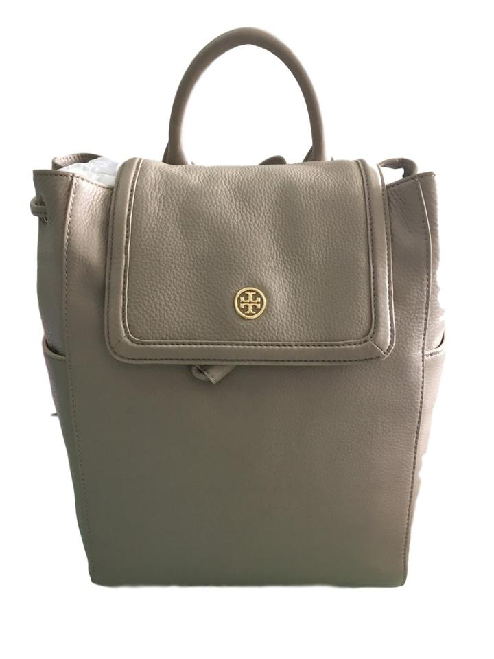 cb5e87d76ce0 Tory Burch Landon French Grey Leather Backpack - Tradesy