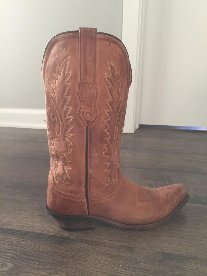 c66d91f32dc Honey Brown Cowgirl Boots/Booties Size US 8.5 Regular (M, B) 74% off retail