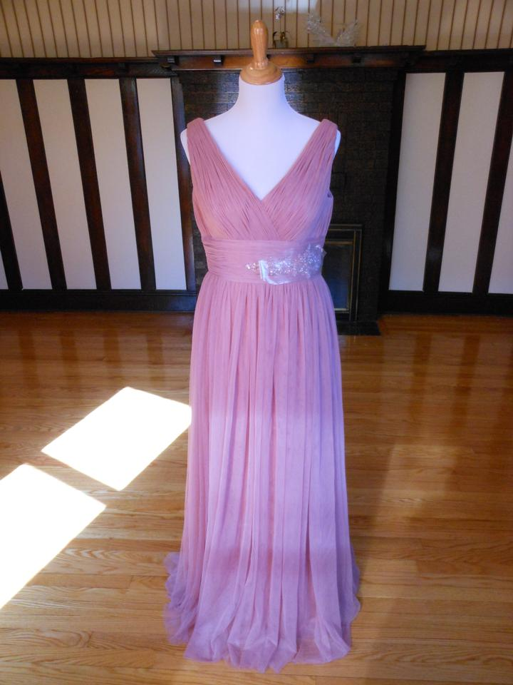 a1c42769d17 Pronovias Dk Pink Niamey Long Cocktail Dress Size 12 (L) - Tradesy
