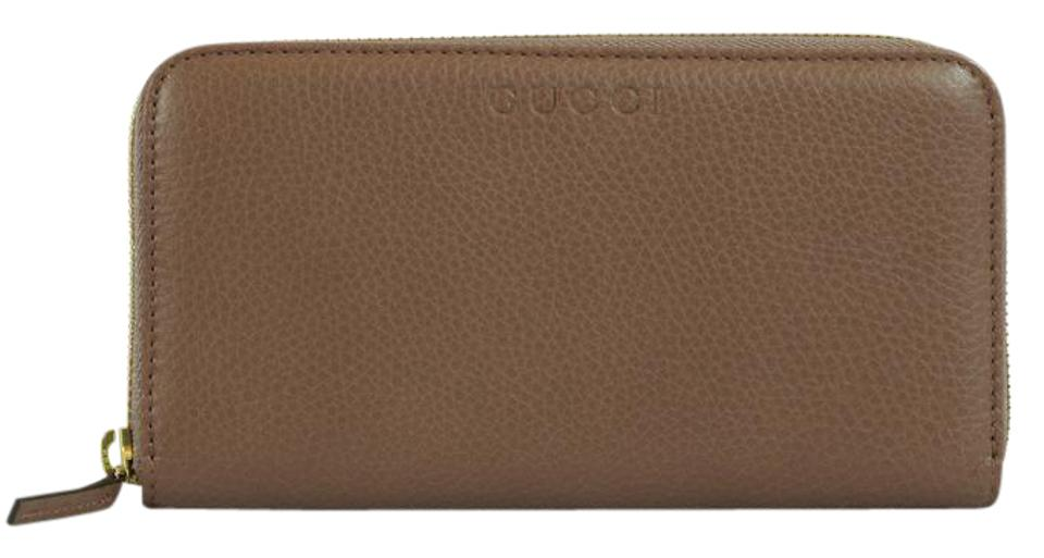 99a48fe91626 Gucci GUCCI Women's 363423 Leather Zip Around Wallet, Pink Tan Image 0 ...